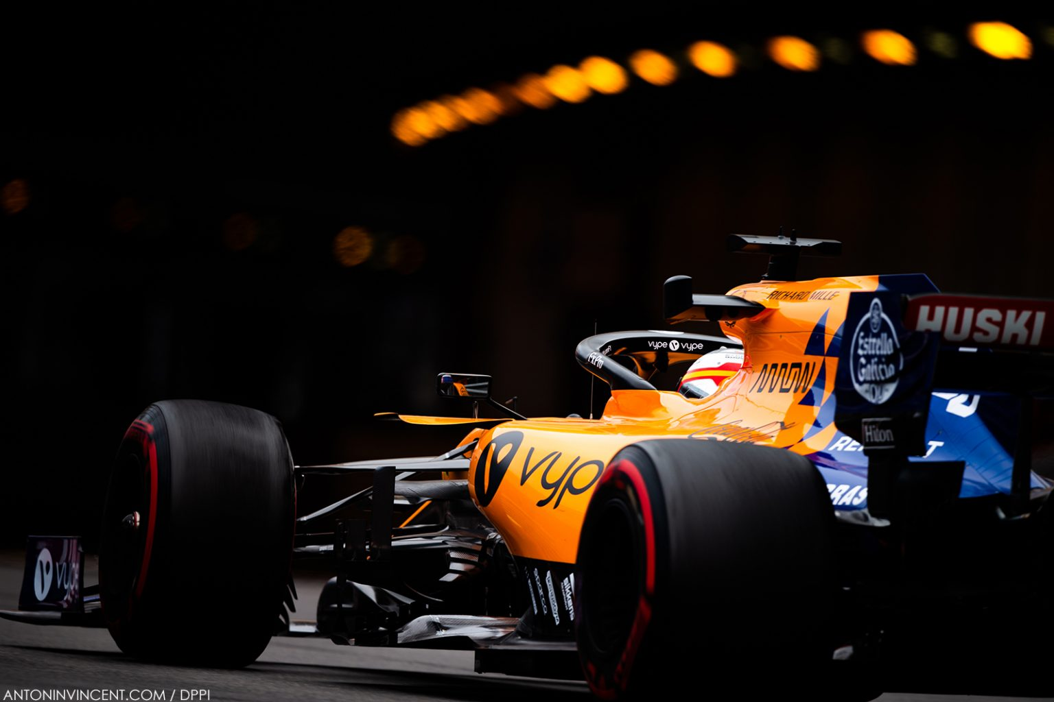 55 SAINZ Carlos (spa), McLaren Renault F1 MCL34, action during the 2019 Formula One World Championship, Grand Prix of Monaco from on May 23 to 26 in Monaco - Photo Antonin Vincent / DPPI