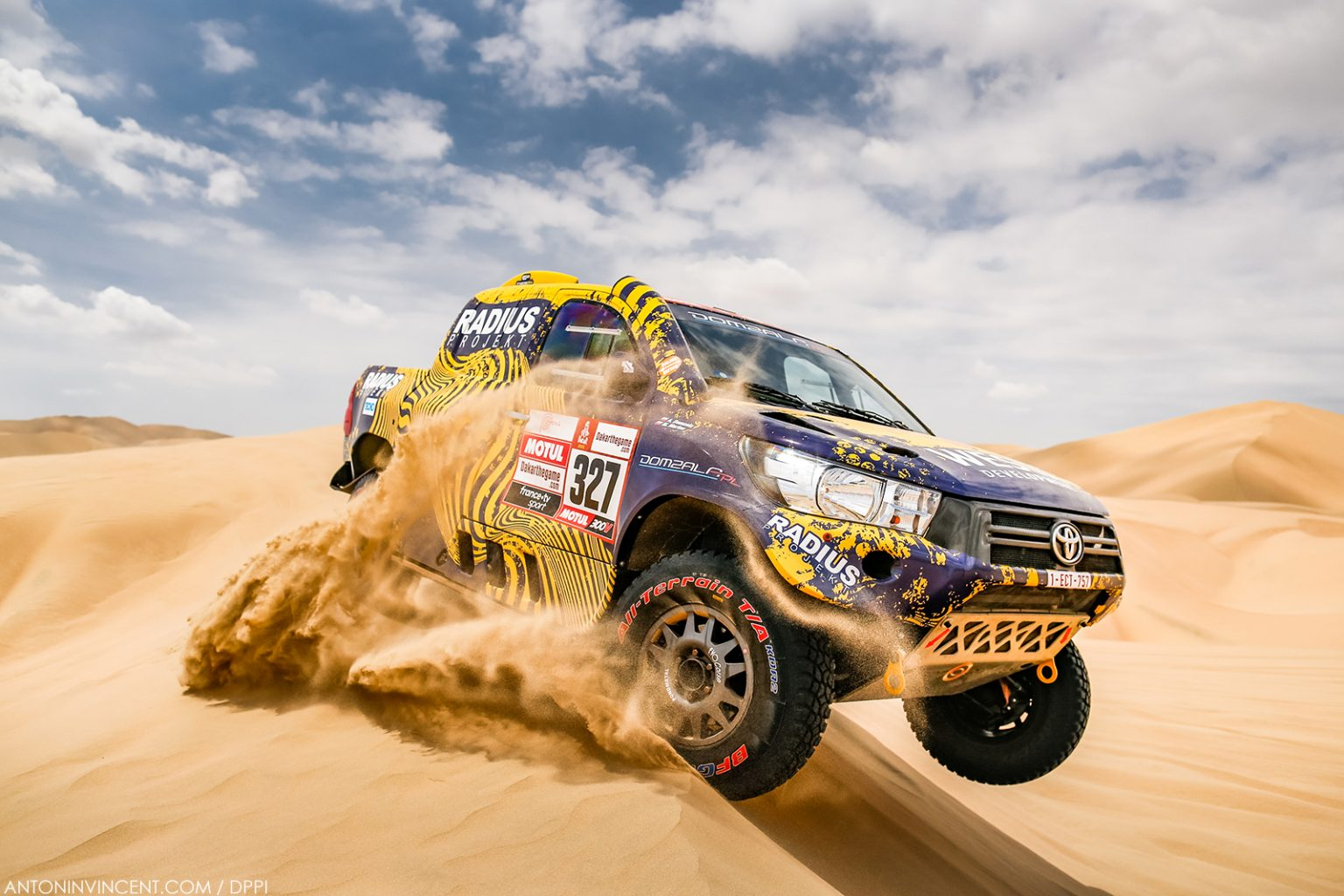 327 DOMZALA Aron (pol), MARTON Maciej (pol), Toyota, Toyota Overdrive, Group T1, Class 2, Auto, action during the Dakar 2019, Stage 1 Lima to Pisco, peru, on january 7 - Photo Antonin Vincent / DPPI
