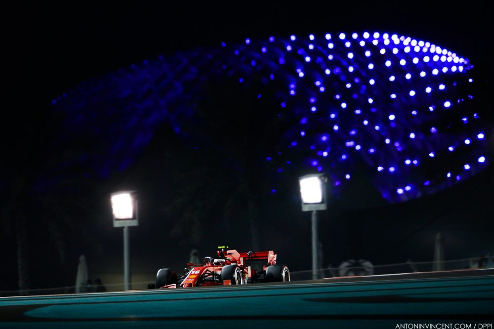 16 LECLERC Charles (mco), Scuderia Ferrari SF1000, action during the Formula 1 Etihad Airways Abu Dhabi Grand Prix 2020, from December 11 to 13, 2020 on the Yas Marina Circuit, in Abu Dhabi - Photo Antonin Vincent / DPPI