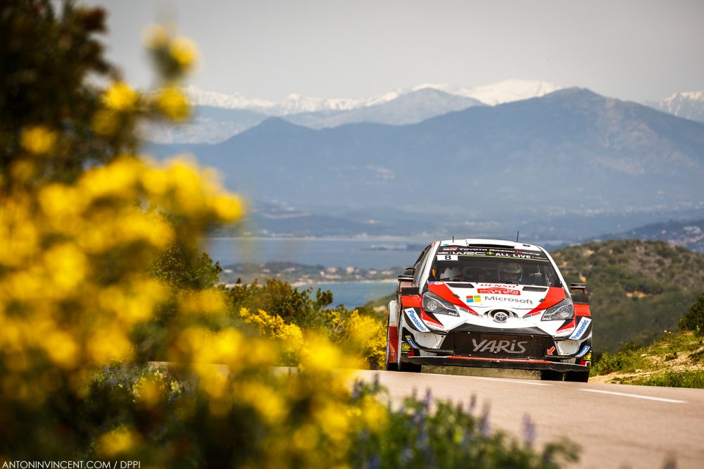 08 TANAK Ott (EST), JARVEOJA Martin (EST), TOYOTA YARIS WRC, TOYOTA GAZOO RACING WRT action during the 2018 WRC World Rally Car Championship, Tour de Corse rally from April 5 to 8 at Ajaccio, France - Photo Antonin Vincent / DPPI