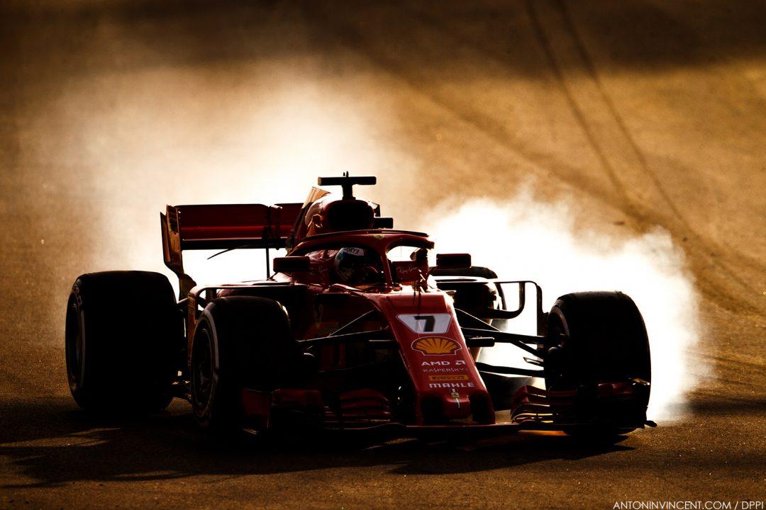 07 RAIKKONEN Kimi (fin), Scuderia Ferrari SF71H, action during Formula 1 winter tests 2018 at Barcelona, Spain from  March 6 to 9  - Photo Antonin Vincent / DPPI