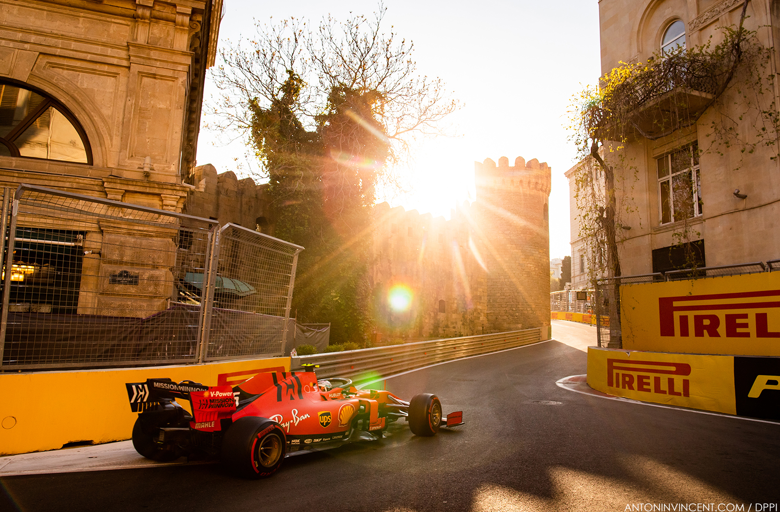 16 LECLERC Charles (mco), Scuderia Ferrari SF90, action during the 2019 Formula One World Championship, Grand Prix of Azerbaijan from April 25 to 28 in Baku - Photo Antonin Vincent / DPPI