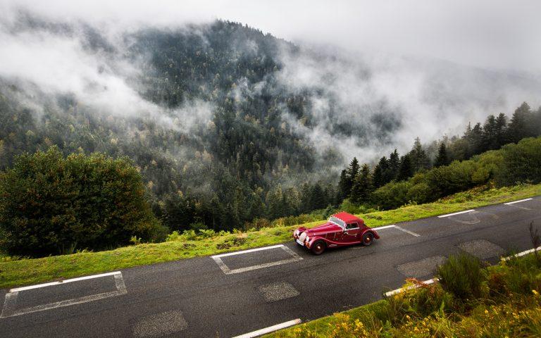 Morgan 4/4 drive in the Pyrénées