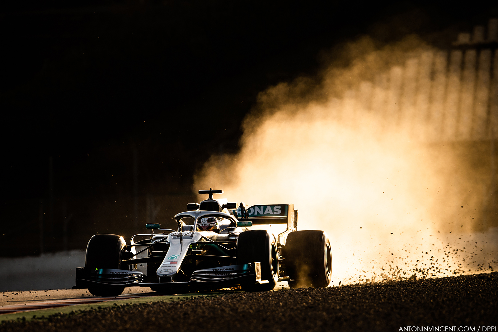 44 HAMILTON Lewis (gbr), Mercedes AMG F1 GP W10 Hybrid EQ Power+, action during Formula 1 winter tests from February 18 to 21, 2019 at Barcelona, Spain - Photo Antonin Vincent / DPPI