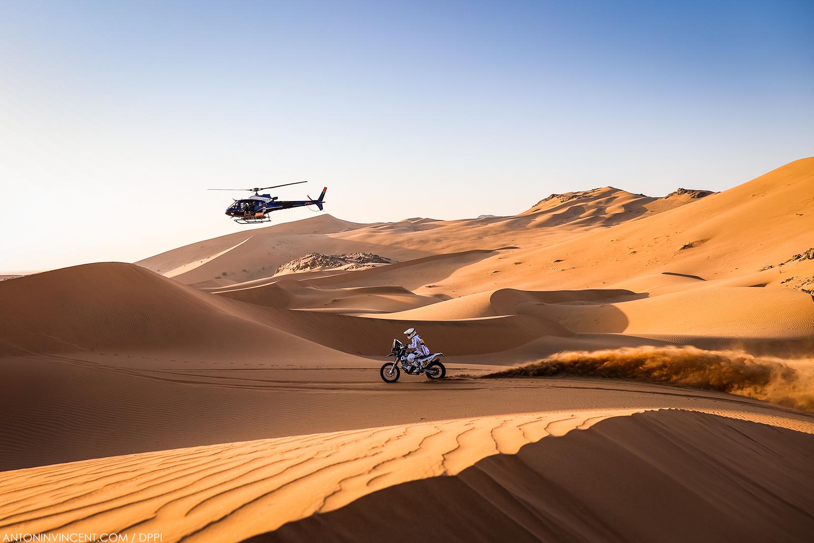 12 De Soultrait Xavier (fra), Husqvarna, HT Rally Raid Husqvarna Racing, Motul, Moto, Bike, action during the 2nd stage of the Dakar 2021 between Bisha and Wadi Al Dawasir, in Saudi Arabia on January 4, 2021 - Photo Antonin Vincent / DPPI